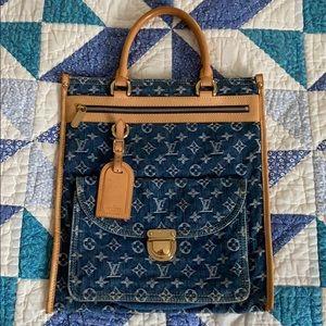 Louis Vuitton Blue Monogram Denim Sac Plat